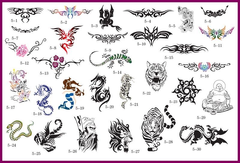 Как сделать из чего сделать трафареты для тату